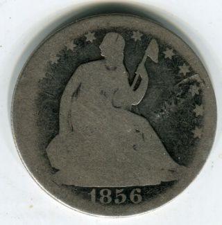 1856 50c Seated Liberty Half Dollar Ag photo