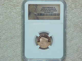 2009 S Proof Lincoln Bronze Bicentennial Penny Ngc Pf69 Rd Uc Birth And Child photo