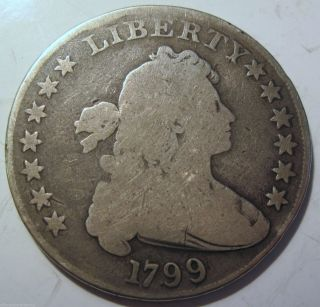1799 Draped Bust Silver Dollar Coin (33a) photo