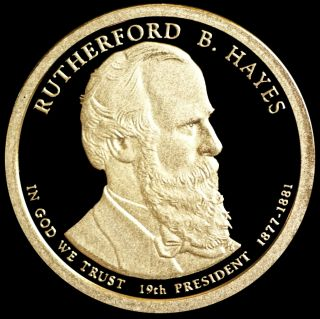 2011 S Rutherford B.  Hayes Gem Proof Presidential Dollar photo