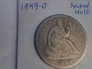 1849 - O Seated Half Dollar photo