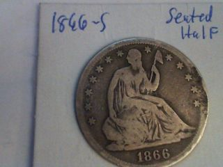 1866 - S Seated Half Dollar With Planchet Error photo
