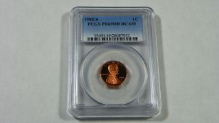 1988 - S Proof Lincoln Cent Penny Pcgs Pr69rd Dcam photo