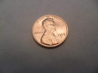 1969 S Lincoln Memorial Cent Penny photo
