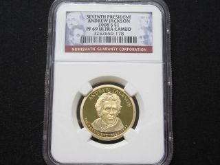 2008 S Proof Andrew Jackson Presidential Dollar - Ngc Pf 69 Ultra Cameo (178) photo