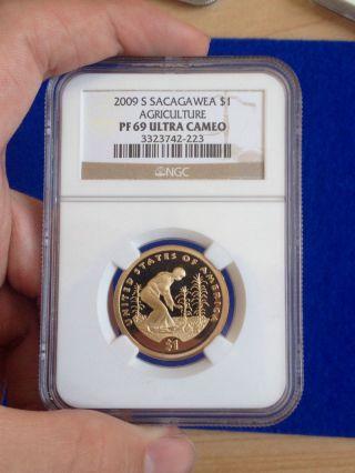 2009 - S Sacagawea Agriculture - Ngc Pf 69 Ultra Cameo photo