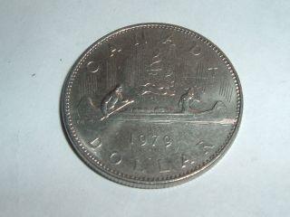 Canadain One Dollar Coin Date 1979 Coin photo