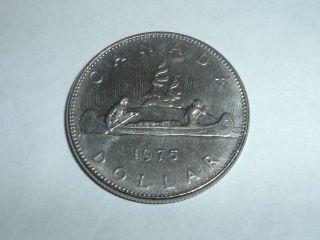 Canadain One Dollar Coin Date 1975 Coin photo