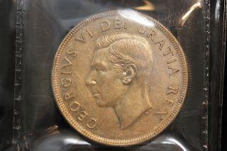 1951 Canada.  1$ Dollar.  Voyageur.  Iccs Graded Au - 50.  (xkf964) photo