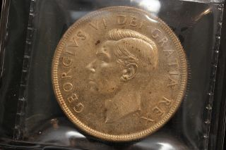 1950 Canada.  1$ Dollar.  Voyageur.  Swl.  Iccs Graded Ms - 63.  (xkf960) photo
