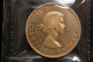1962 Canada.  1$ Dollar.  Voyageur.  Iccs Graded Ms - 62 (xkf976) photo