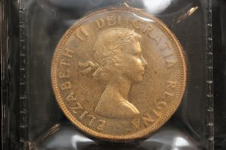 1960 Canada.  1$ Dollar.  Voyageur.  Iccs Graded Ms - 60.  (xkf975) photo