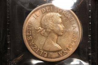 1963 Canada.  1$ Dollar.  Voyageur.  Iccs Graded Ms - 63 (xkf979) photo