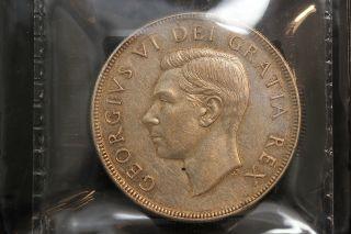 1952 Canada.  1$ Dollar.  Voyageur.  Wl.  Iccs Graded Ef - 45.  (xkf965) photo