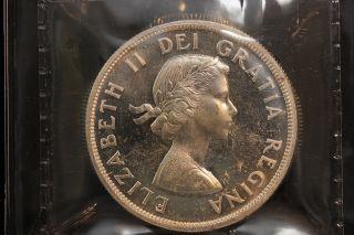 1960 Canada.  1$ Dollar.  Voyageur.  Iccs Graded Pl - 65.  (xkf992) photo
