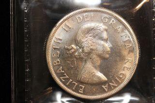 1963 Canada.  1$ Dollar.  Voyageur.  Iccs Graded Ms - 63 (xkf977) photo