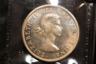 1963 Canada.  1$ Dollar.  Voyageur.  Iccs Graded Ms - 63 (xkf993) photo