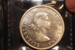 1963 Canada.  1$ Dollar.  Voyageur.  Iccs Graded Ms - 63 (xkf985) photo