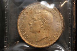 1951 Canada.  1$ Dollar.  Voyageur.  Iccs Graded Au - 50.  (xkf962) photo