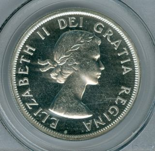 1962 Canada Silver Dollar Pcgs Pl65 Cameo photo