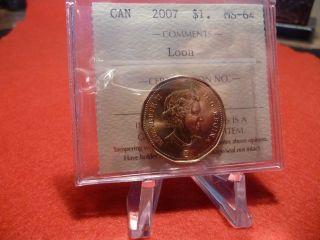 2007 (1$) Elizabeth Ii Portrait Iccs Ms - 64 (xoa 271) photo