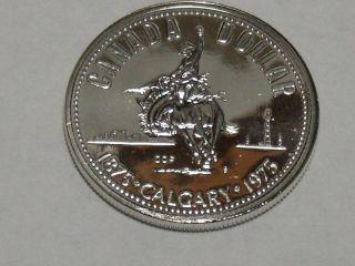 1975 Canadian Commemorative Silver Dollar Bu 603a photo