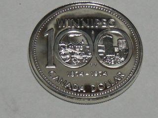 1974 Canadian Commemorative Silver Dollar Bu 606a photo