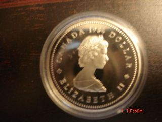 1984 S$1 Cartier Dc (proof) Canada Silver Dollar photo