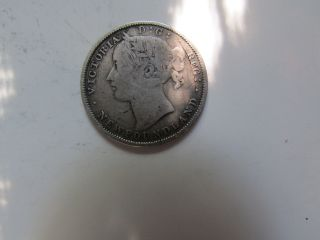 1880 Canada (newfoundland) Twenty Cent Piece photo