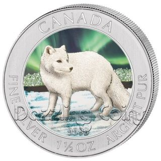 2012 Two Loons Colorized $1 Pure 9999 Silver Coin 1oz