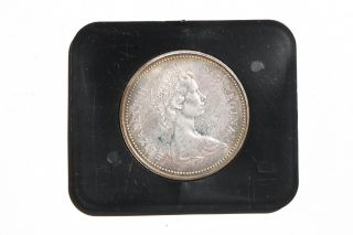 Silver Proof Coin 1871 - 1971 British Columbia Canadian Dollar Old Money photo