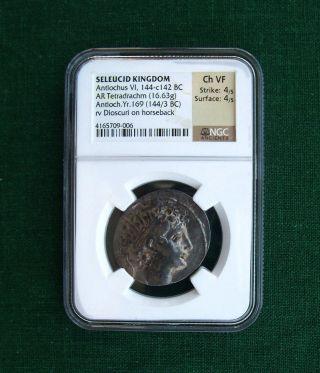 Seleucid Kingdom Silver Ar Tetradrachm Antiochos Vi Dionysos Epiphanes Ngc photo