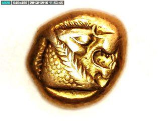 2rooks Greek Asia Minor Lydia King Kroisos 24k Plated Gold Miletos Coin photo