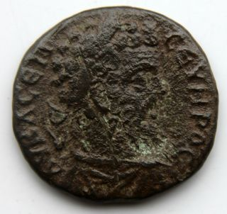 Roman Bronze Colonial Coin Of Septimius Severus Unresearched Issue photo