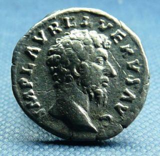 Lucius Verus Silver Denarius,  Providentia Reverse, photo