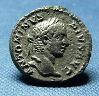 Caracalla Silver Denarius,  Liberalitas Reverse,  Good Example photo
