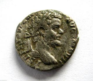 200 A.  D Emperor Septimus Severus Roman Period Imperial Ar Silver Denarius Coin photo