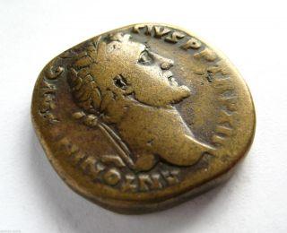 140 A.  D Emperor Antoninus Pius Roman Period Imperial Ae Bronze Sestertius Coin photo