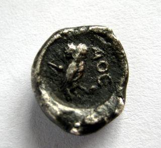 C.  300 B.  C Ancient Greece Attica - Athens Ar Silver Tetrobol Coin.  Owl Issue photo