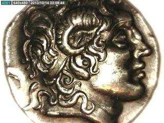 2rooks Greek Macedon Macedonia King Lysimachos Large Tetradrachm Coin photo
