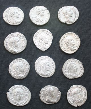 A Group Of Twelve Roman Silver Denarius photo