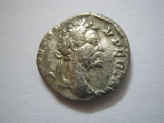 Roman Silver Denarius Of Imp.  Septimius Severus,  193 - 211 A.  D. photo