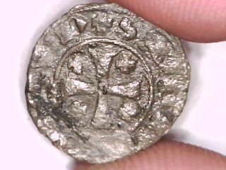 2rooks Frankish Kings Of Chypre Cipro Cyprus Zypern Silver Denier Unknown King photo