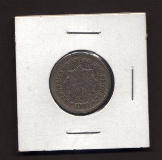 Uruguay 5 Centesimos,  1901 photo