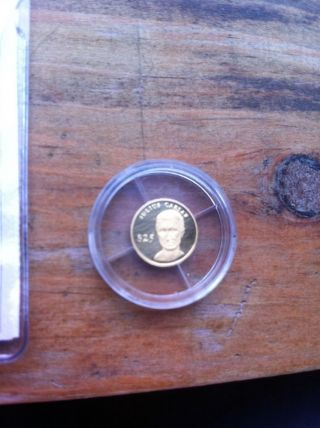 Julius Caesar $25 Republic Of Liberia Gold Coin 2000 American photo
