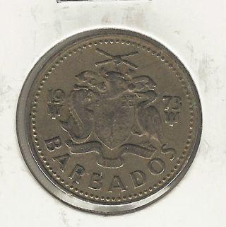 Barbados 25 Cents,  1973 photo