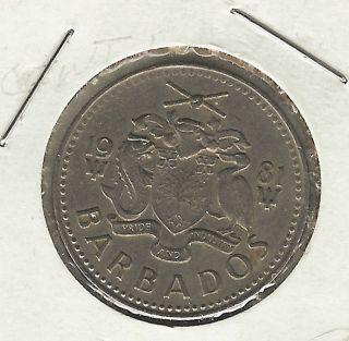 Barbados 25 Cents,  1981 photo