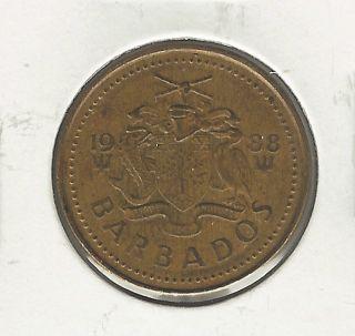 Barbados 5 Cents,  1988 photo