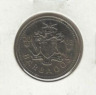 Barbados 25 Cents,  2003 photo