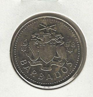 Barbados 25 Cents,  1998 photo
